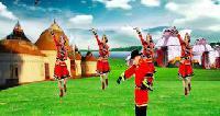 歌伴舞--问草原--表演--笑天 小云